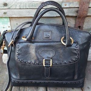 RARE Dooney & Bourke black leather handbag